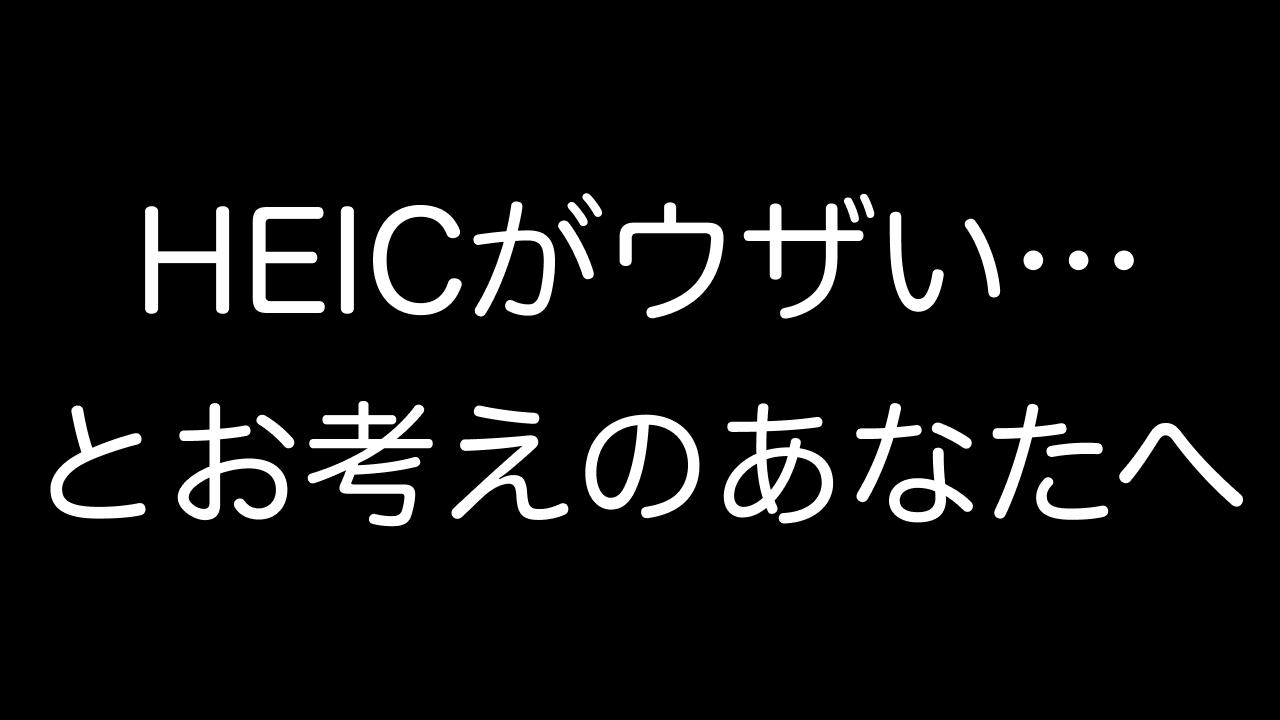 HEICとは何?PNG&JPG変換方法・画像閲覧・iPhone写真設定も解説