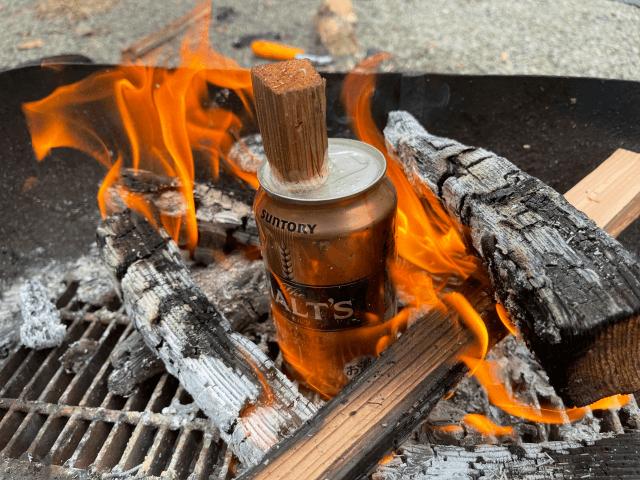 【メスティン飯盒不要】アルミ缶を使った焚き火炊飯の方法を解説
