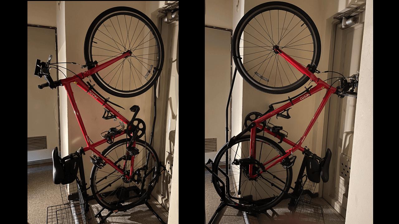 自転車の縦置き保管が可能。工事不要の国産バイクスタンド